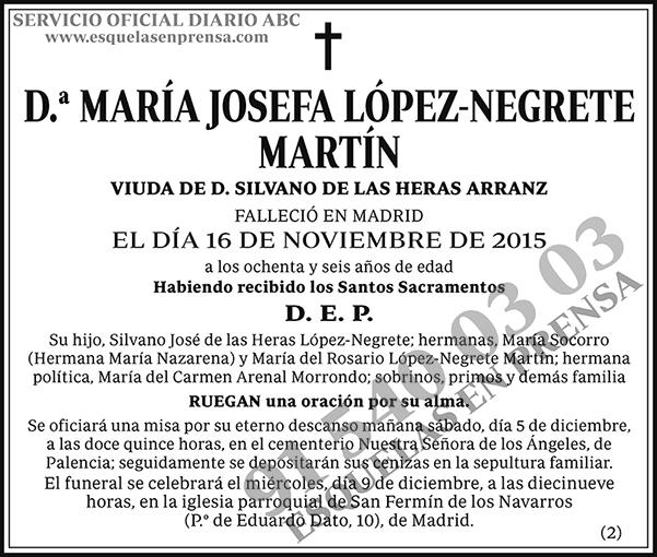María Josefa López-Negrete Martín